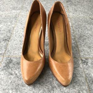 Aldo tan high heel pumps